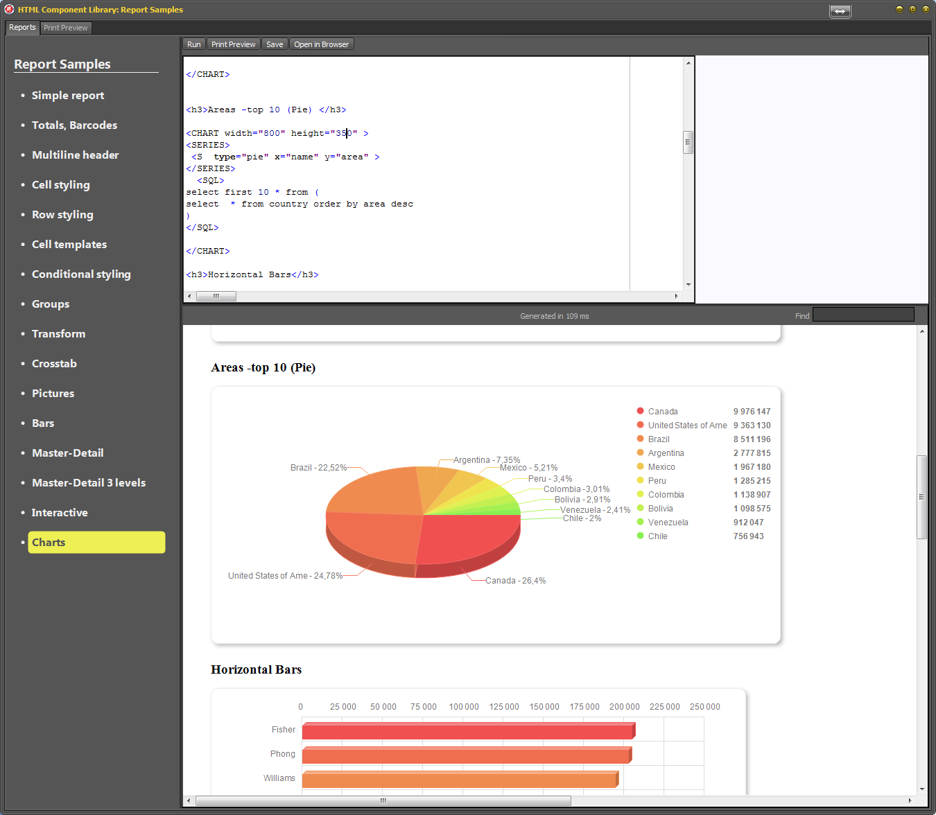 Delphi Html Report Library Charts Pie Chart